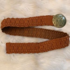 Accessories - Braided belt with metal buckle